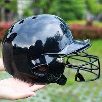 Adult professional baseball helmet Binaural ears baseball helmet,mask protective cap,head protection,face, and Softball helmet