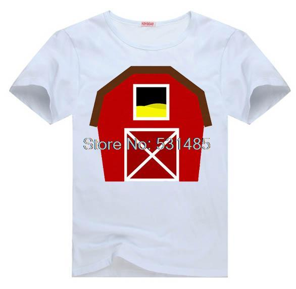 Barn Tee Farm Nursery Wall Hanging T Shirt For Kid Boy Clothing Top Clothes Cartoon Tshirt In Shirts From Women S Accessories On