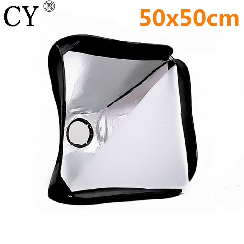High Quality 19.7x19.7 50cmx50cm Portable SoftBox For Speedlite Flash Light Photo Studio Accessory Hot Selling
