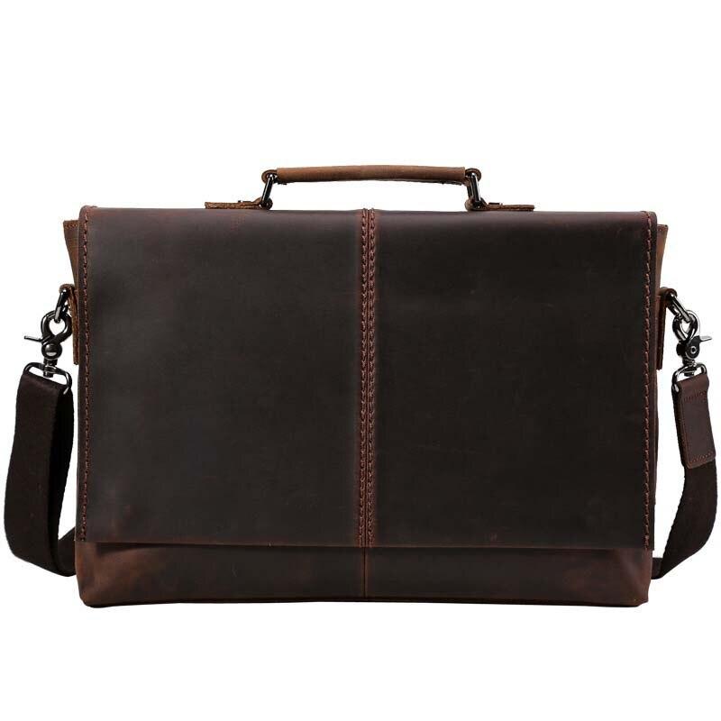 Men Shoulder Bag Man Bag Fashion Men Vintage Bag Genuine Leather Business Shoulder Bag Men Big Handbags Male Commercial Package чехол для планшета it baggage для galaxy note 2014 edition 10 1 черный itssgn2101 1 itssgn2101 1
