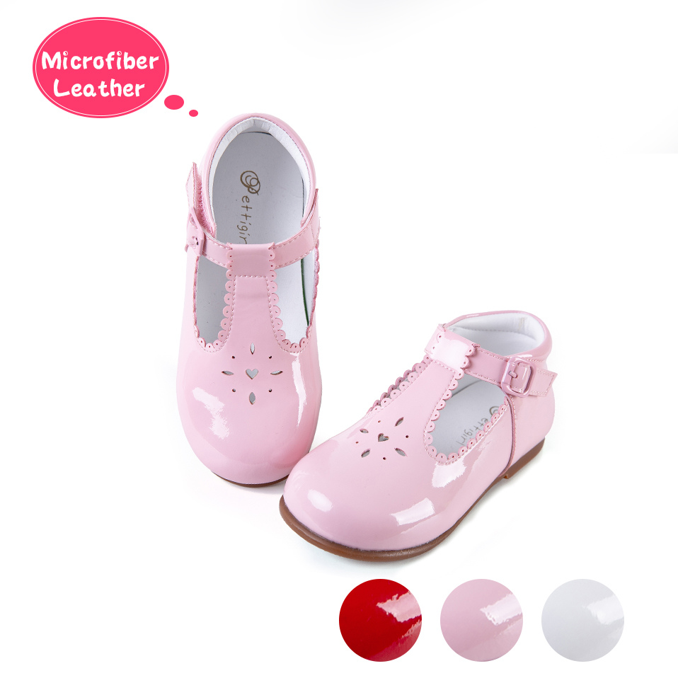 Pettigirl 2019 Newest Baby Girls Shoes 3 Colors Microfiber Leather Hollow Shoes Handmade Kids Shoes US Size (Without Shoe Box)-in Leather Shoes from Mother & Kids