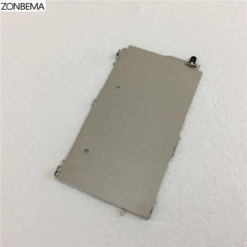 Zonbema جديد شاشة lcd لوحة معدنية حامل الداخلية عرض الدرع حامي حامي غطاء قوس إصلاح الجزء آيفون 5 5 ثانية 5c