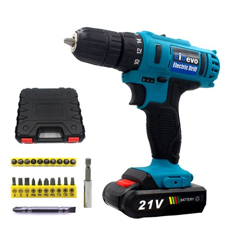 Cacciavite EiDevo 21 V Li-Ion Ricaricabile Cordless tools trapano trapano avvitatore a batteria spina di UE electric power