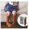 Фокс носки Прекрасный 3D Фокс Детские Гетры Носки мини Для Детей Девочек нескользящей Хлопок Дети Носки Meias Calentadores Piernas