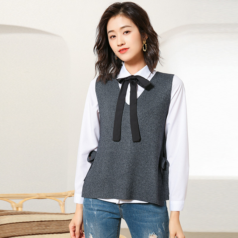 new sweater vest women fine wool material sleeveless sweater V collar pullover female fashion vest sweaters