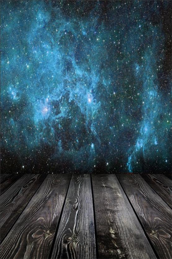 Laeacco Dark Wooden Floor Starry Glitter Star Universe Party Baby Portrait Photo Backgrounds Photography Backdrops Photo Studio floor