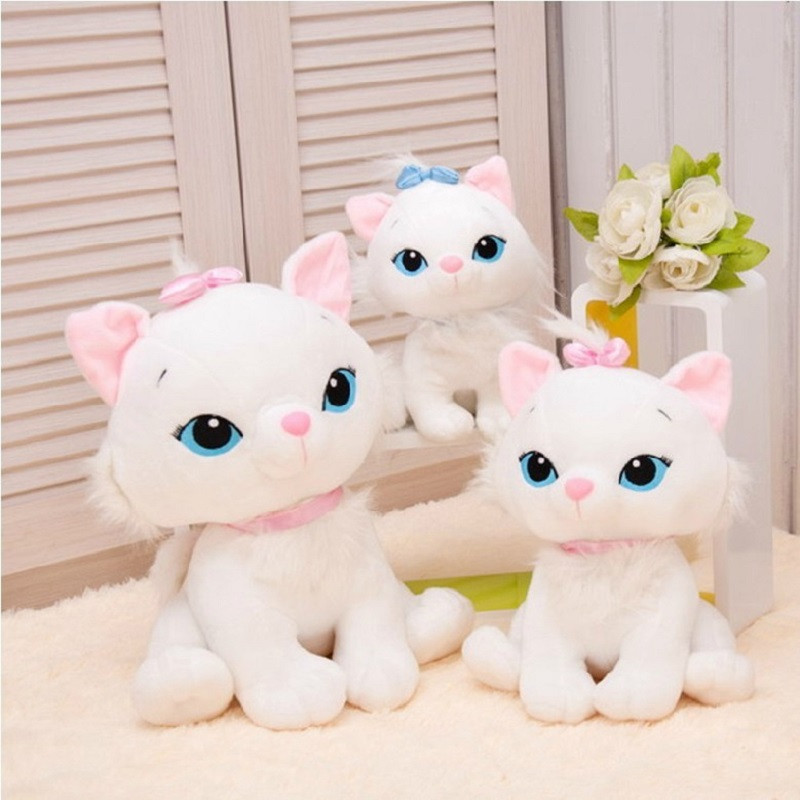 2 Color 18cm Simulaton Aristocats Cat Marie Plush Animal Stuffed Toys For Kids Birthday Gifts