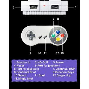 Image 5 - Süper MINI SNES NES Retro klasik Video oyunu konsolu TV oyunu oynatıcı dahili 821 oyunları çift oyun klavyeler