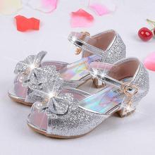 Qloblo/детские сабо; Летние сандалии принцессы; детская Свадебная обувь для девочек; кожаные модельные туфли на высоком каблуке с бантом