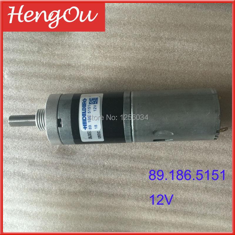 1 piece Heidelberg gto motor 89.186.5151/01, 12V printing motor