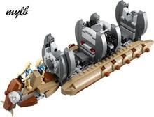 Mylb Nouveau 565 pcs Star Wars Battle Droid Transport de Troupes Vaisseau Spatial navire Cruiser Jar Binks blaster brinquedos avec DIY