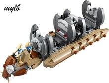 mylb New 565pcs Star Wars Battle Droid Troop Carrier Spaceship vessel Cruiser Jar Binks blaster brinquedos with DIY