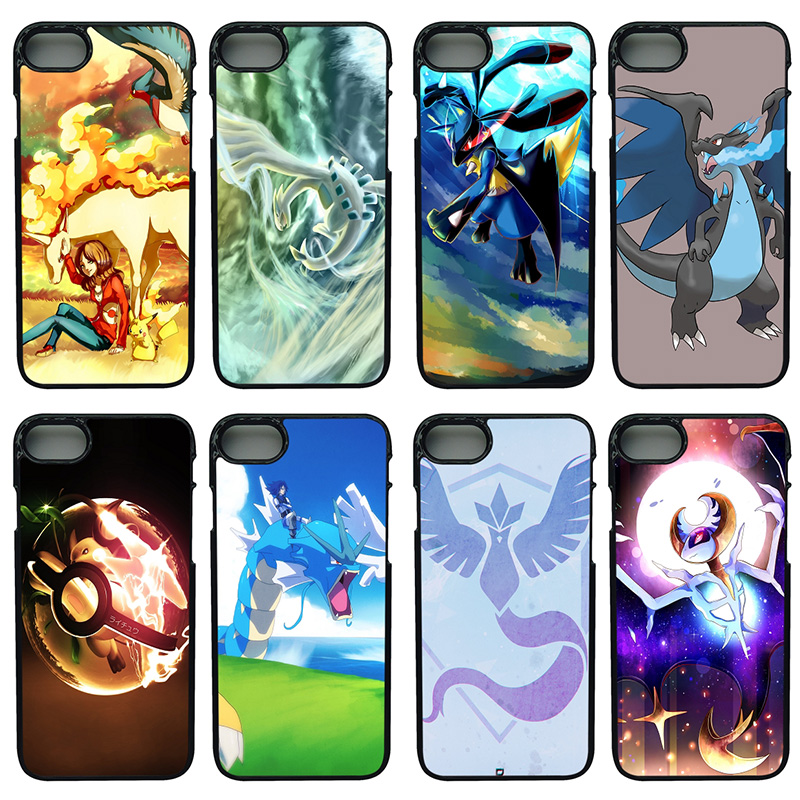 Cute Cartoon Pokemons Pikachus Cell Phone Cases Hard PC Cover for iphone 8 7 6 6S PLUS X 5S 5C 5 SE 4 4S iPod Touch 4 5 6 Shell