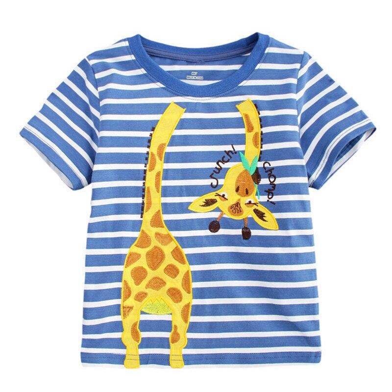 5217c36deb 2-7 T Top marka moda aplikacja dla dzieci chłopcy koszulki z krótkim  rękawem w