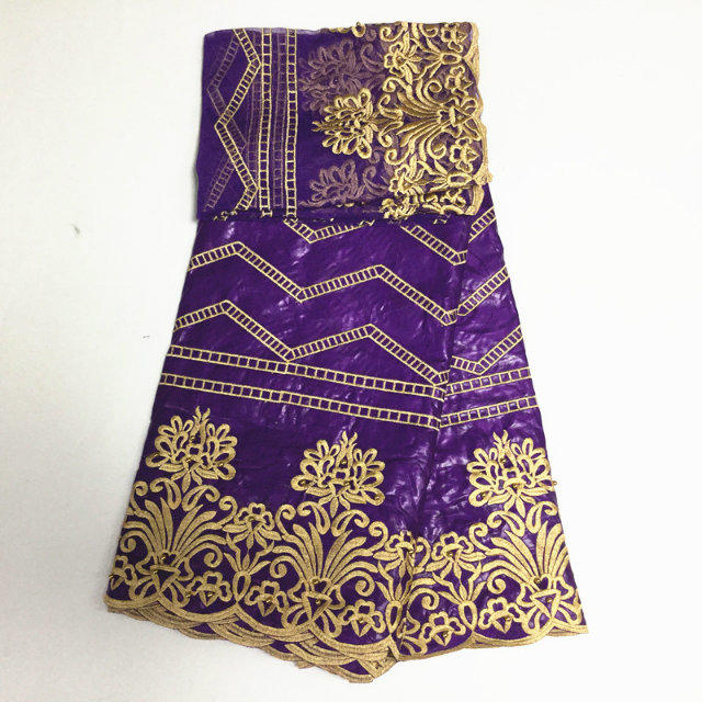 purple and gold embroidered fabric bazin riche fabric nigerian gele headtie  net lace with beads woman blouse 5yard lot PL1549-in Lace from Home    Garden on ... e545b63ea1f