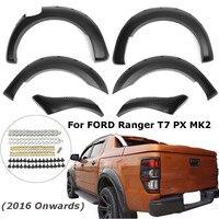 6pcs ABS Car Rangers Part Complete Set Wheel Arch Matte For Fender Flares For Ford Ranger T7 2016 PX MK2