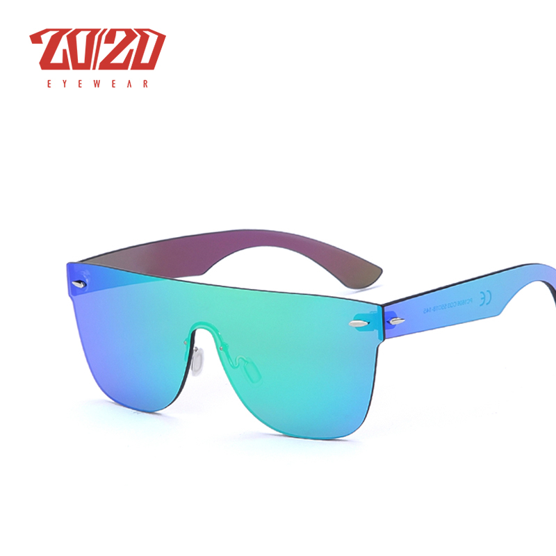 Image 4 - 20/20 Brand New Sunglasses Men Travel Driving Mirror Flat Lens Rimless Women Sun Glasses Eyewear Oculos Gafas-in Men's Sunglasses from Apparel Accessories