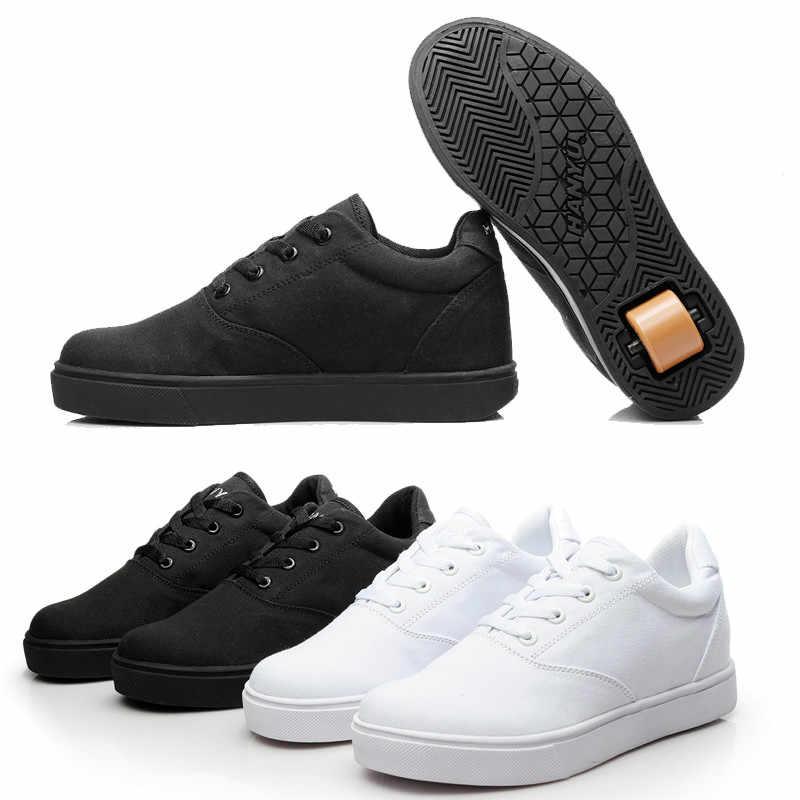Black White Sneakers with Wheel Boy