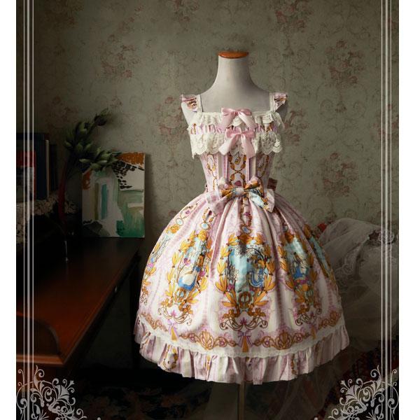 Alice Sweet Printed Lolita JSK Dress Magic Tea Party