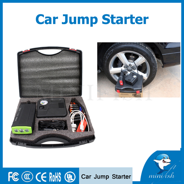 Factory Price  Emergency Portable Mini Car Jump Starter 12000mAh With Air Pump