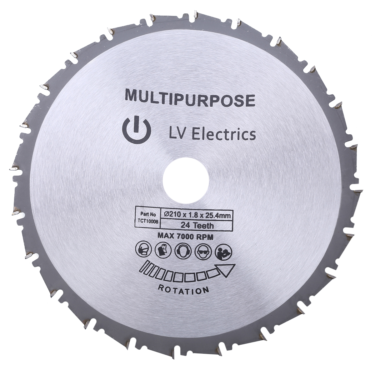 New Arrival 210mm Circular Saw Blade Disc Wood Metal Saw Blade Mayitr For Rage Rage4 RageB 25.4mm Bore Evolution 24T