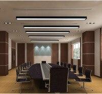Escritório LEVOU lustre moderno escritório simples longa tira de alumínio lâmpada linha lâmpada pendurada lustre engenharia comercial conduziu a lâmpada