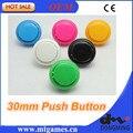 Boa Qualidade 50 Pçs/lote 30mm Rodada Botão/arcade botão com interruptor, botões para máquina de jogo de arcade controlador de arcade DIY