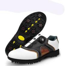 PGM patent Golf Sko Herre Læder sko snørebånd send aktiviteter negle automatiske roterende pigge