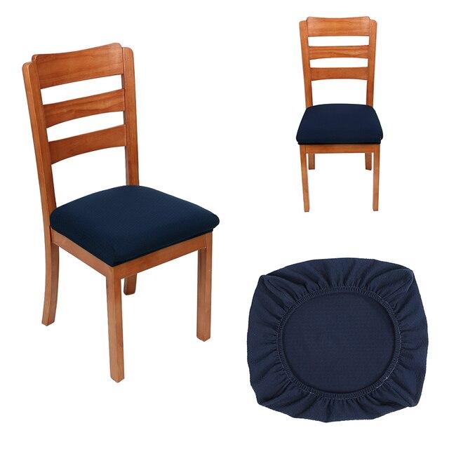 Fodere Per Sedie.Moderno Ufficio Cucina Spandex Elastico Fodere Per Sedie Colore Solido Seat Protector Stretch Caso Durevole Anti Sporco Sedia Copertura Di Sede