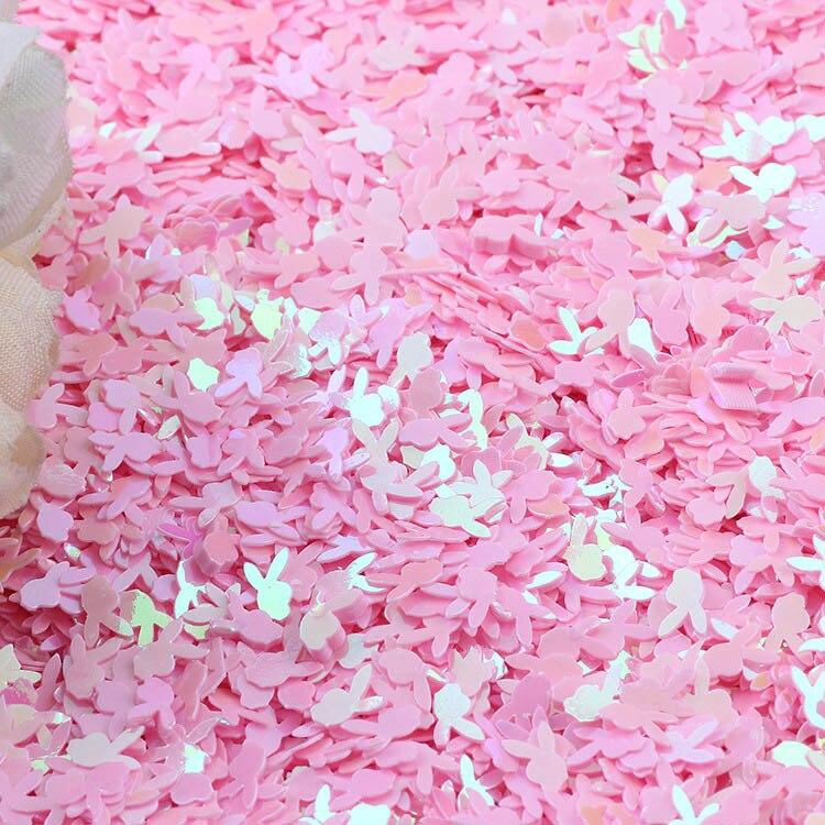 10 г, рассыпчатые блестки с кроличьей головой для поделок, 6 мм, блестящий конфетти, художественное оформление ногтей, аксессуары для шитья своими руками
