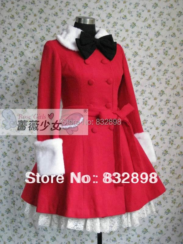 Hiver Filles D'hiver Doux Arc Manteau Robe Laine Japon Lolita Veste Marque Long w6qBgBzx