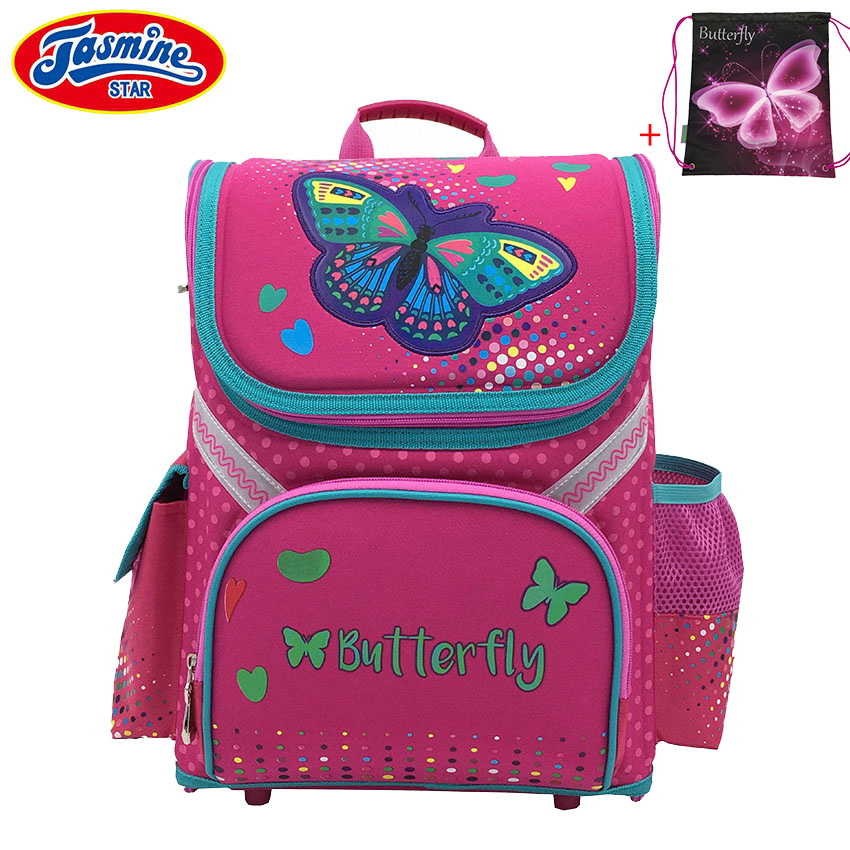 efed567a99 JASMINESTAR Primary Student Backpack School Orthopedic Children Butterfly School  Bags for Girls Waterproof Backpacks Kids