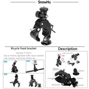 Image 2 - SnowHu Gopro aksesuarları için bisiklet motosiklet bisiklet gidon kolu Bar kamera dağı Tripod adaptörü Gopro Hero 9 8 7 6GP73