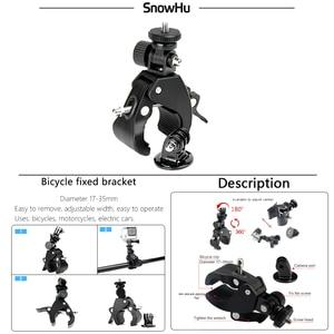 Image 2 - SnowHu Manillar de bicicleta para Gopro, accesorio para manillar de bicicleta, soporte de cámara, adaptador de trípode para Gopro Hero 9 8 7 6GP73
