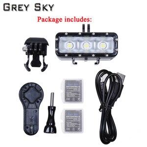 Image 5 - Go Pro nurkowanie latarka lampa LED lampa błyskowa wideo dla GoPro Hero 5 4/3 +,SJCAM SJ4000 sj 4000 Xiaomi Yi 4k 2 akcesoria do kamer