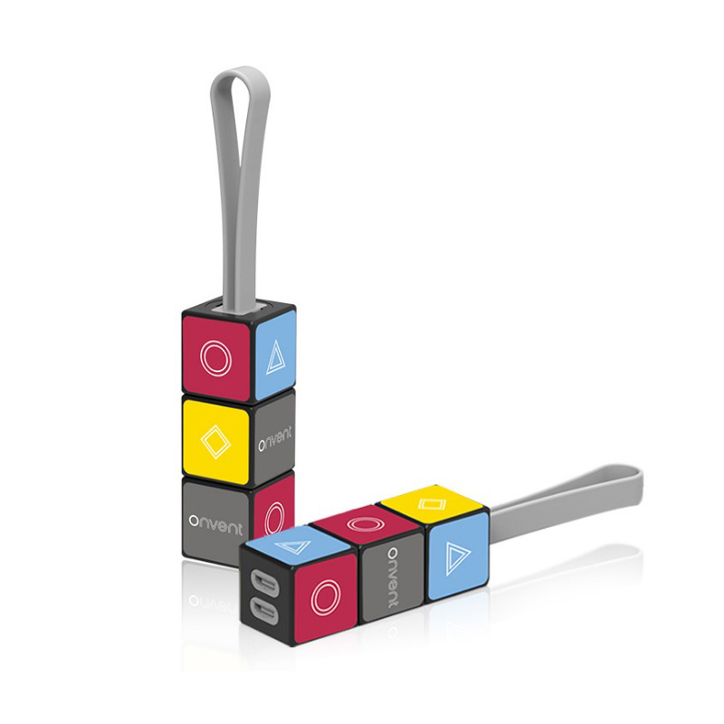 New 3 in 1 <font><b>USB</b></font> Type C/for Android/For Iphone Cable <font><b>Micro</b></font> <font><b>USB</b></font> Cable Nylon Cube Convenient <font><b>Usb</b></font> Data Line Creative Car Accessories image