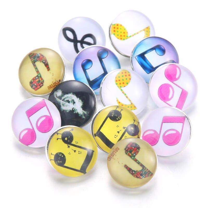 10 шт./лот, смешанные цвета и узор, 18 мм, стеклянные кнопки, ювелирное изделие, граненое стекло, оснастка, подходят, оснастки, серьги, браслет, ювелирное изделие - Окраска металла: 020911