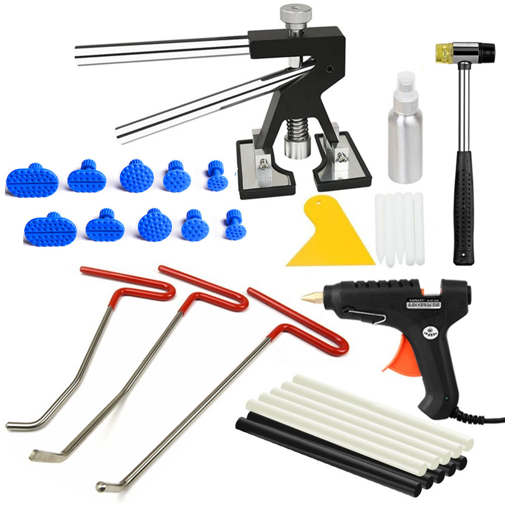 PDR Rods Hook Tools Paintless Dent Repair Car Dent Removal dent puller with suction cup glue gun glue sticks hot box pdr whdz pdr tools paintless dent repair tools dent removal dent puller pdr glue tabs glue gun hot melt glue sticks