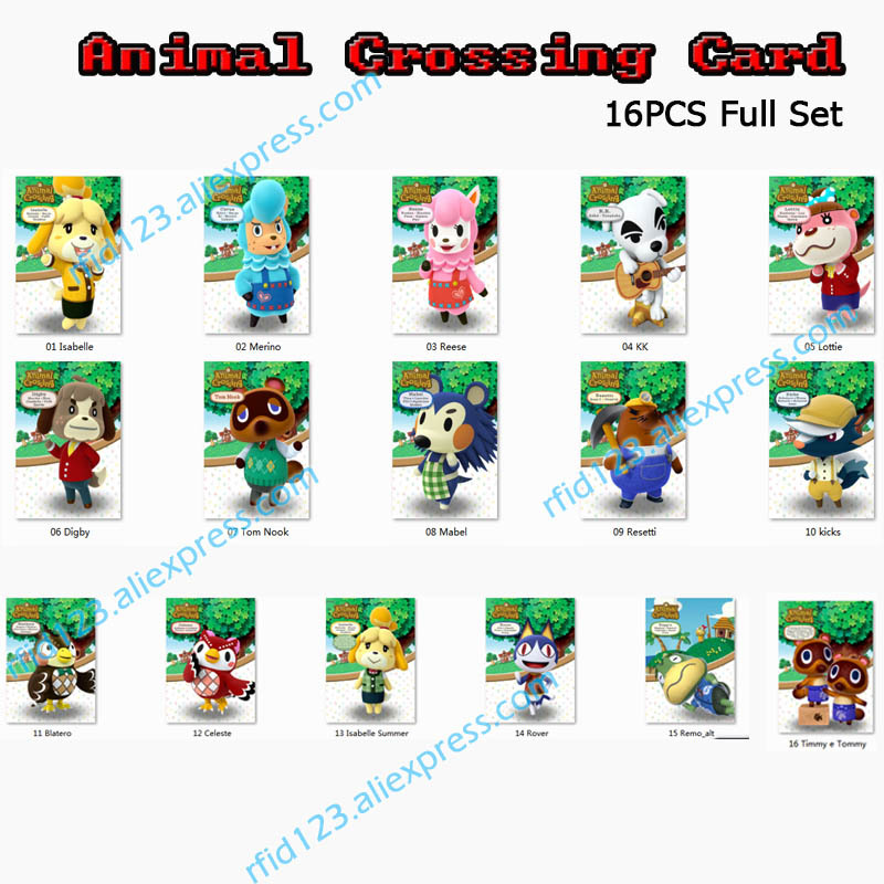 <font><b>Animal</b></font> <font><b>Crossing</b></font> <font><b>Card</b></font> NFC <font><b>Amiibo</b></font> <font><b>Card</b></font> Work For Switch Latest Data image