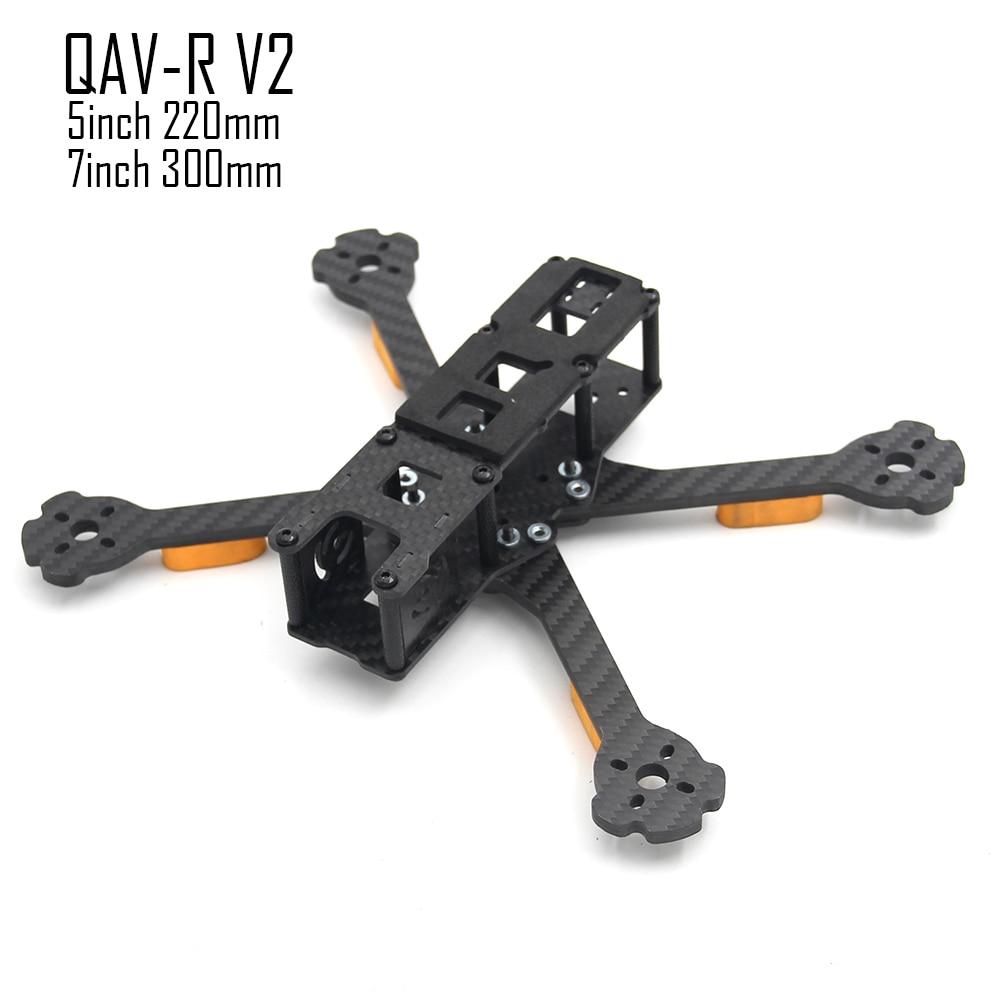 QAV R V2 5inch 220 220mm 4.5mm Arm/ 7inch 300mm 5mm Arm FPV Drone Quadcopter frame carbon fiber better Martian IV 220