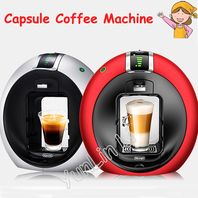 1.3L Automatic Capsule Coffee Machine 220V 1500W Intelligent 15bar Capsule Coffee Maker EDG606 household fully automatic coffee maker cup portable mini burr coffee makers cup usb rechargeable capsule coffee machine