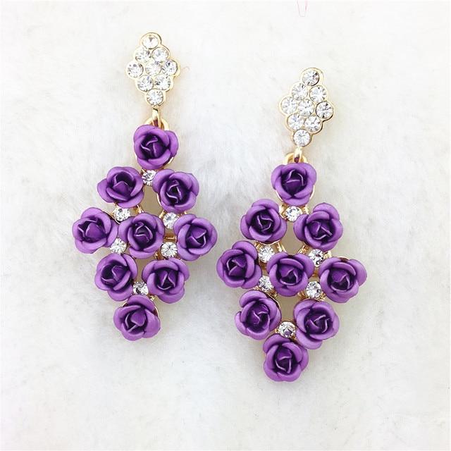 New Designer Y Luxury Chandelier Flower Earrings Fashion Jewelry Drop Vintage Brand Statement
