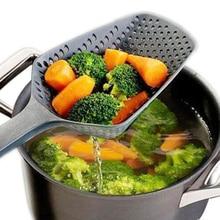 Кухонные принадлежности гаджеты нейлоновое сито Совок Дуршлаг слив овощей воды совок гаджет инструменты для приготовления пищи черный
