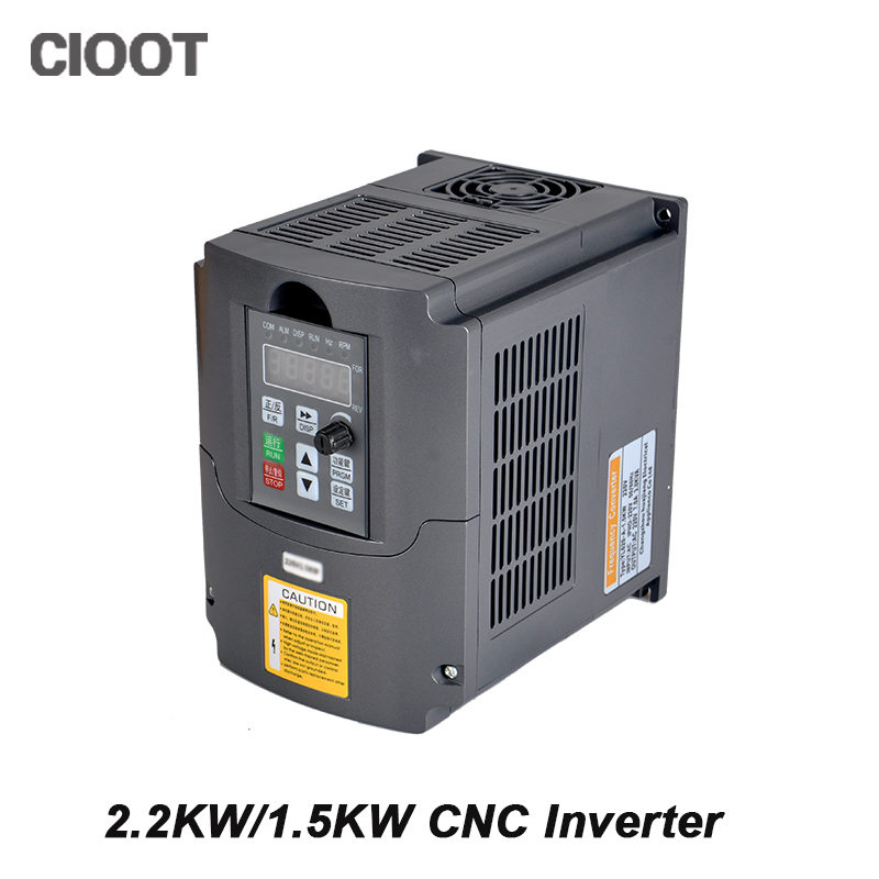 2.2KW/1.5KW CNC Inverter Variable Frequency Drive VFD Inverter AC 110V 220V Spindle Inverter Tools панель декоративная awenta pet100 д вентилятора kw сатин