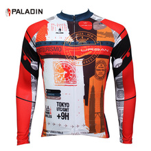 PALADIN Cycling Jersey Long Sleeve Sports Clothing Men Full Voyage Mondiale Cycle Bicycle Clothes Rear Pockets Zippered Shirt