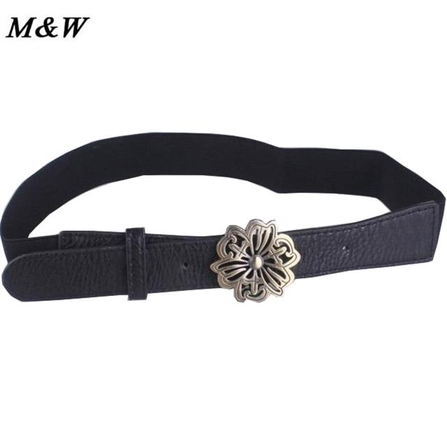 Black Elastic Thin Section Female Waist Closure Retro Buckle Decorative Elastic Belt Fashion Wild Coat Waist Decoration