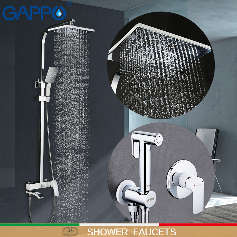 GAPPO Shower Faucets white Shower Faucets bathroom mixer bath tub tap bidet faucet handheld bidet spray muslim shower toilet