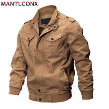 MANTLCONX 2019 Autumn Men Military Army Jacket Cargo Tactical Man Casual Cotton Jackets Coat jaqueta