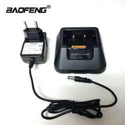 100% оригинал все Новый Baofeng UV-5R Батарея Зарядное устройство УФ 5R Аккумулятор для переносной рации стол Зарядное устройство s ЕС Plug