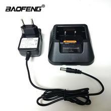 Baofeng carregador de bateria 100% original, carregador de mesa uv 5r, walkie talkie, plugue da ue